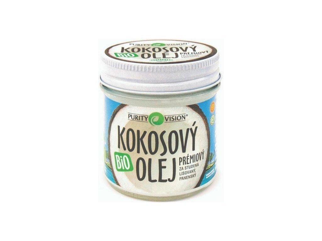 purity vision fair trade kokosovy olej panensky bio 120 ml