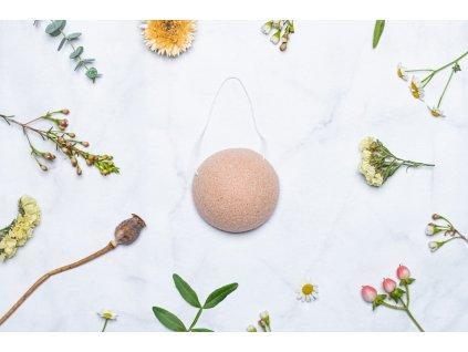 zKokosu Konjaková houbička RŮŽOVÝ JÍL