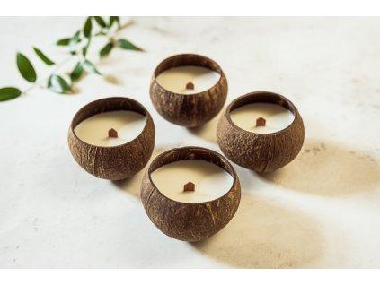 zKokosu Sojová svíčka s vůní LEVANDULE