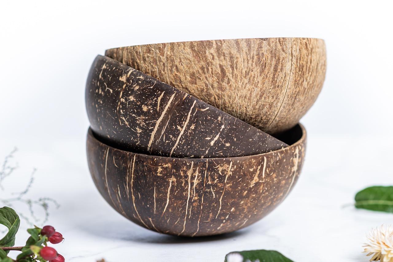 Levně AKCE 2 Kokosové misky ORIGINAL M + 1 NATURAL M ZDARMA