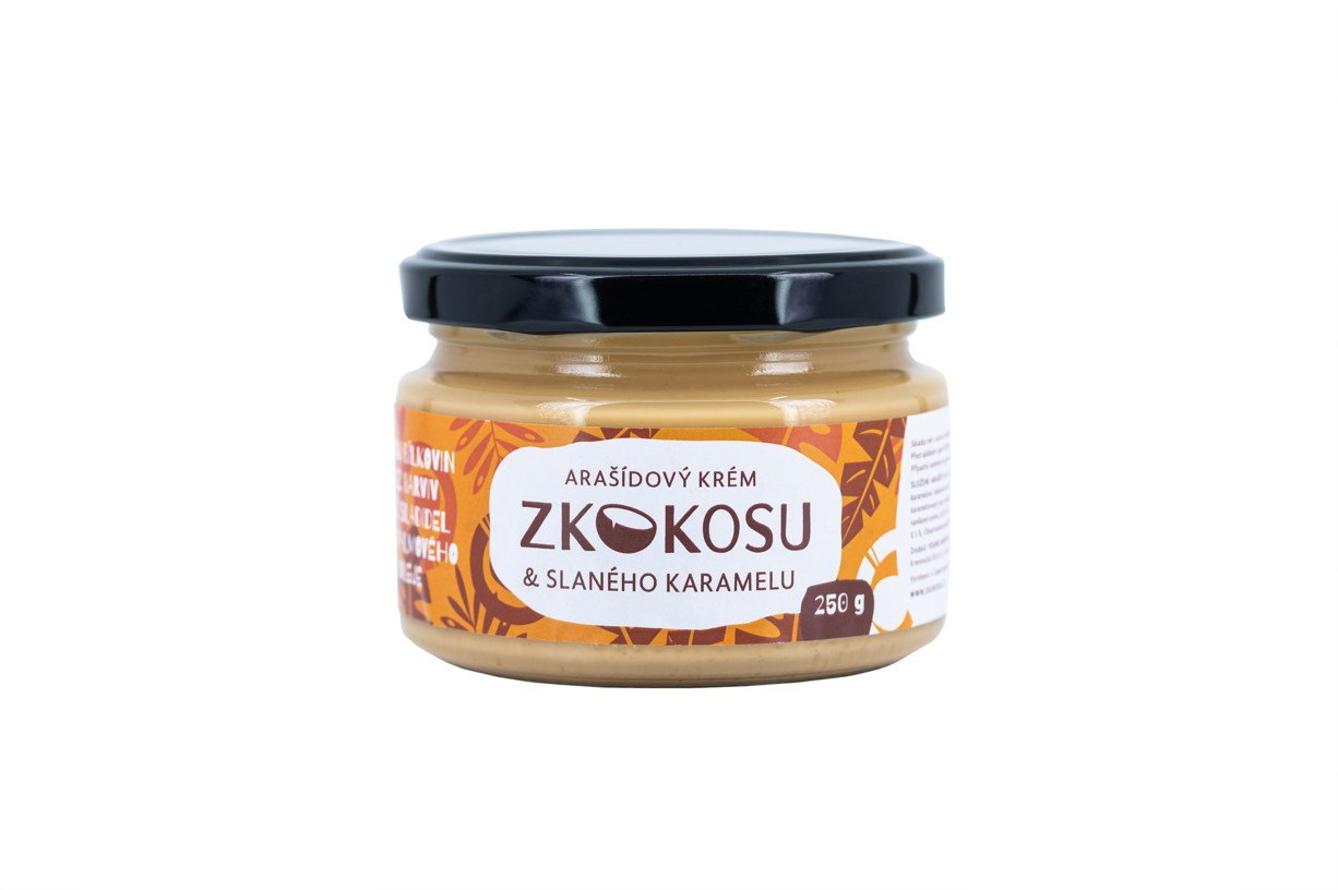 Levně Arašídový krém zKOKOSU & SLANÉHO KARAMELU Velikost: 250 g