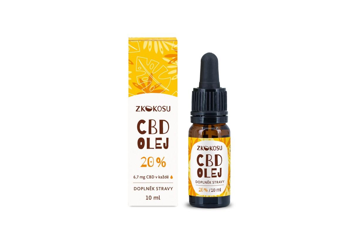 zKokosu CBD olej 20 % 10 ml