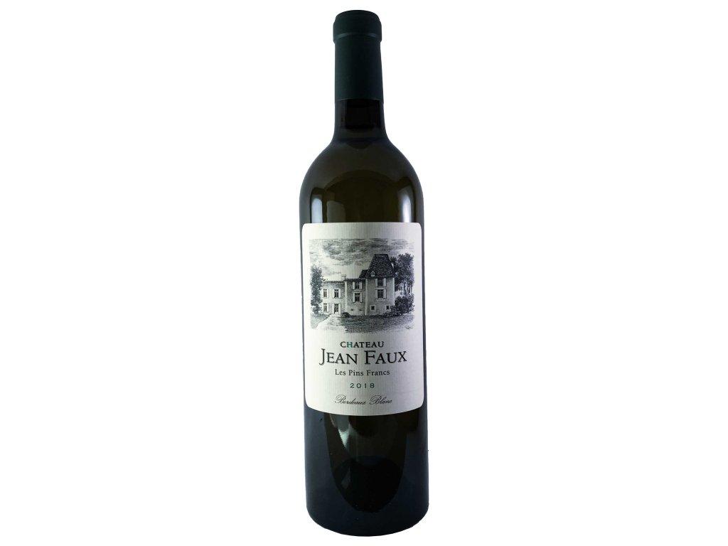 Chateau Jean Faux - LES PINS FRANCS Blanc 2018 0,75l | E-shop s kvalitními a vyzkoušenými víny | Zkusvino.cz