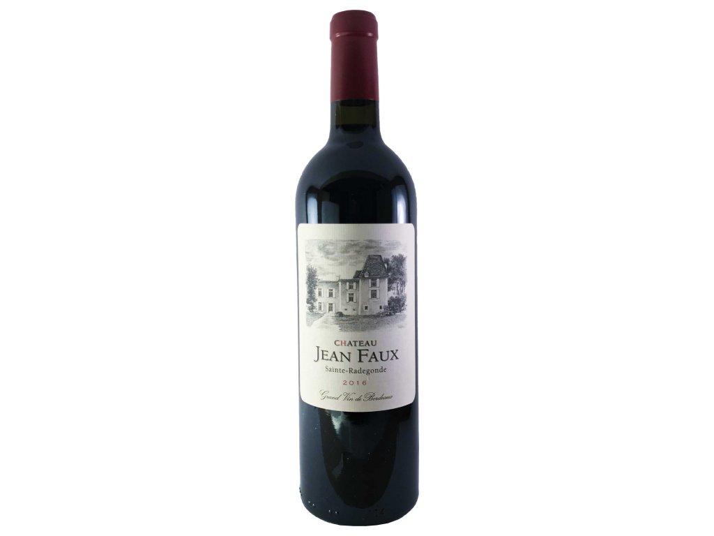 Chateau Jean Faux - SAINTE RADEGONDE Rouge 2016 0,75l   E-shop s kvalitními a vyzkoušenými víny   Zkusvino.cz