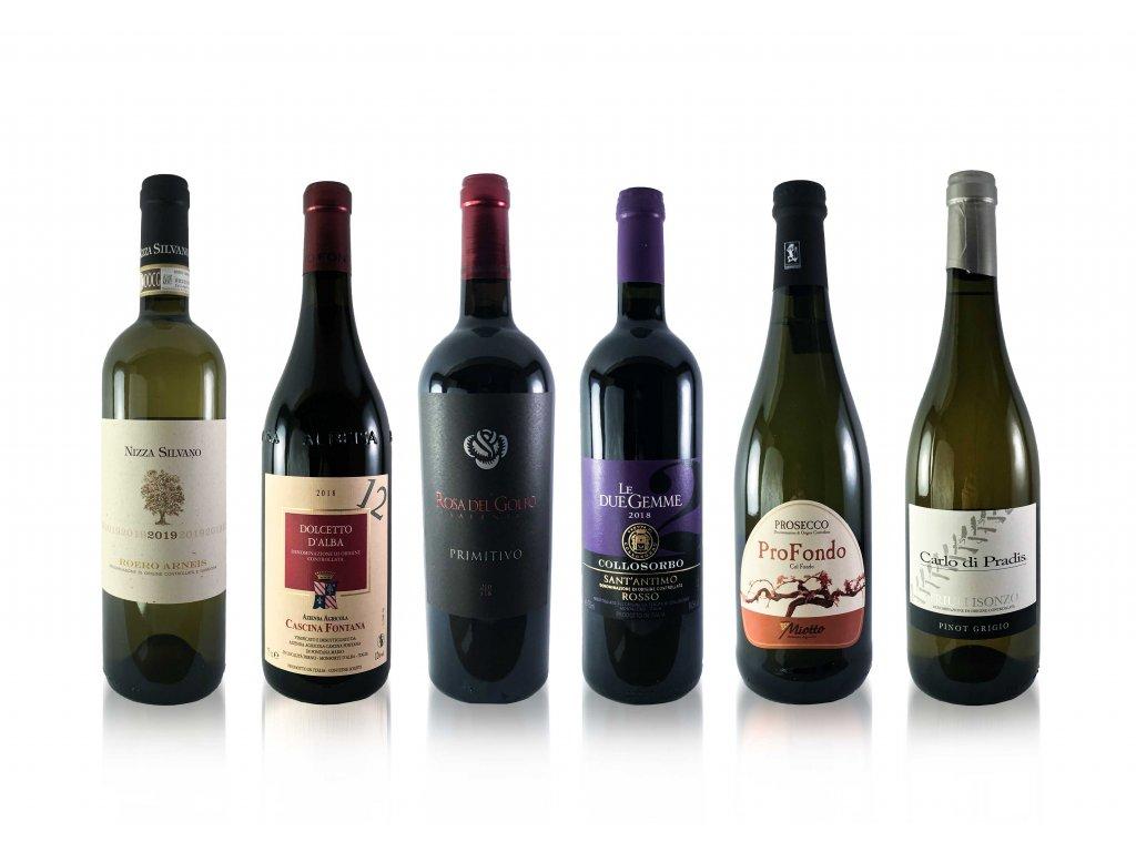 """Degustační set - """"Italia Amore"""" 6x 0,75l   E-shop s kvalitními a vyzkoušenými víny   Zkusvino.cz"""