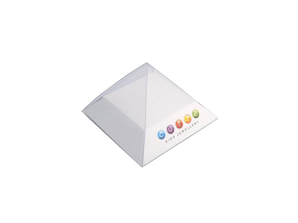 67d552061 Dětské naušnice Cutie C2157-B CZ White - srdíčka - Zlatá beruška