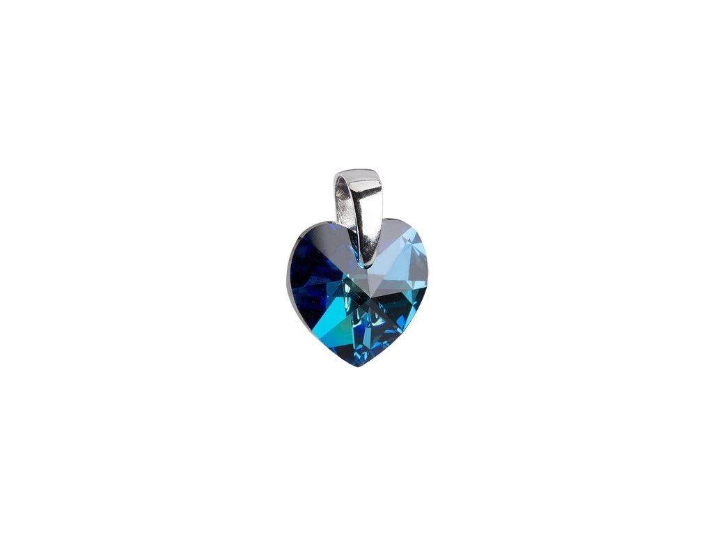 Stříbrný přívěsek Swarovski® elements - tmavě modré srdíčko 10 mm 75a6cd90f99
