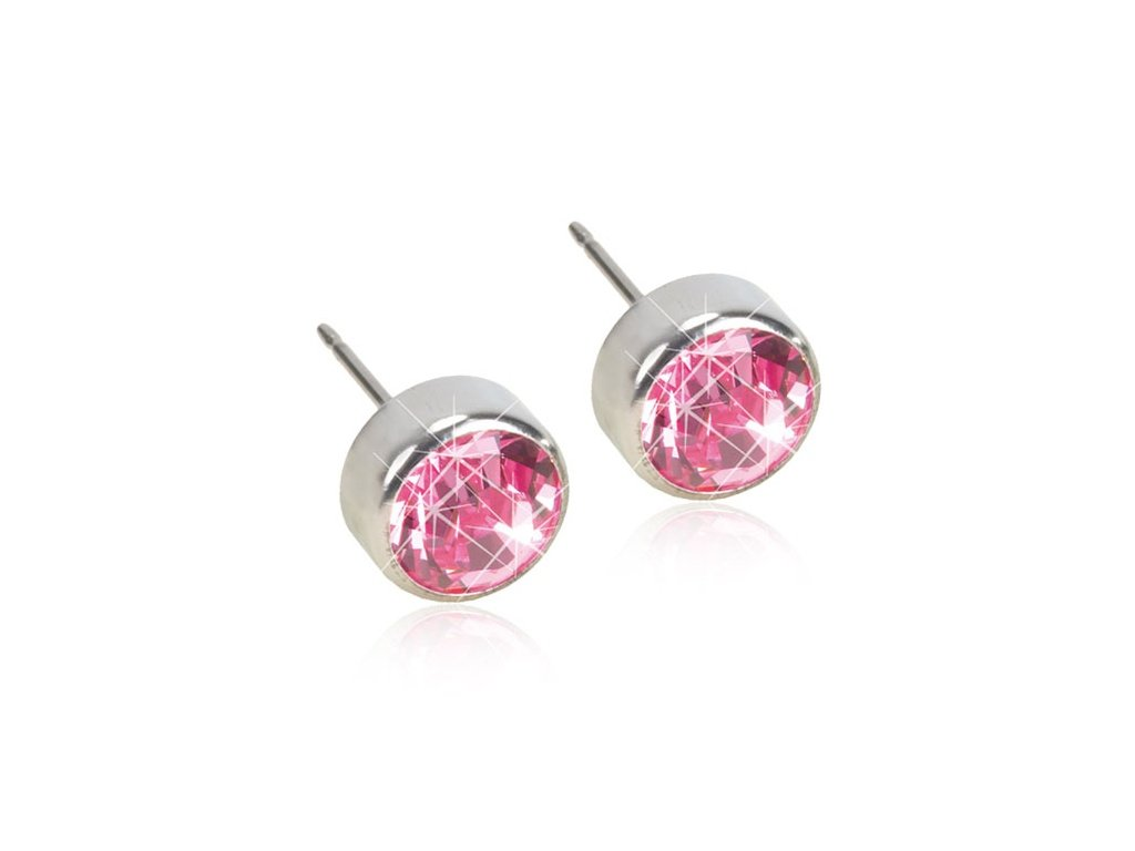 Dětské náušnice z postříbřeného lékařského titanu - růžová kolečka ... 25b597a8e95