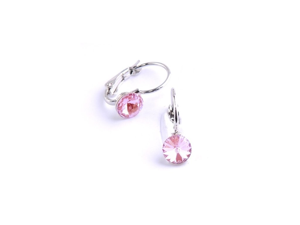 vyr 2276Detske nausnice se Swarovski crystals Rivoli 6 Light Rose u b3b7f63f291