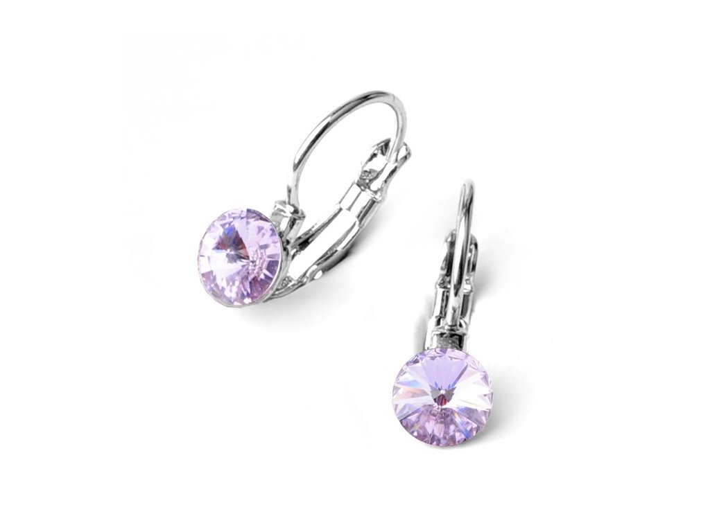 vyr 2371Detske nausnice se Swarovski crystals Rivoli 6 Violet u f11a408d656