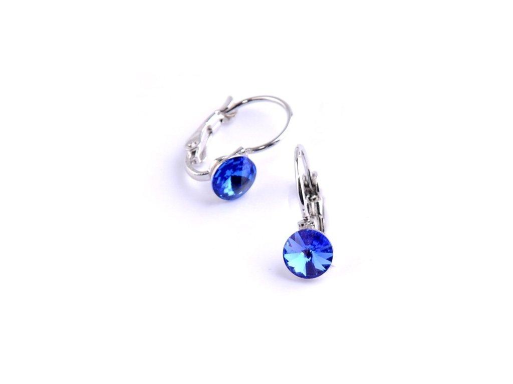 vyr 2282Detske nausnice se Swarovski crystals Rivoli 6 Sapphire u b4f279c6ab2