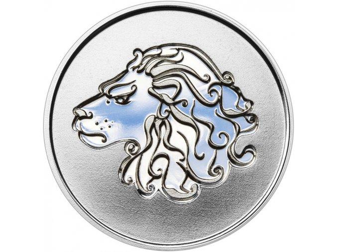 Znamení zvěrokruhu LEV - stříbrná medaile