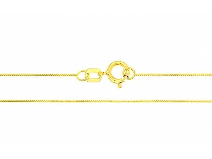 Řetízek ze žlutého zlata Venécia