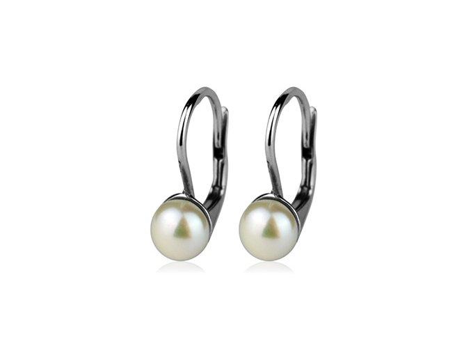 Dívčí stříbrné náušnice s přírodní perlou 5,5 mm