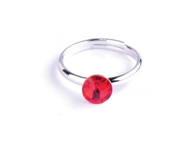 Dětský prsten Swarovski® crystals Rivoli - červený 6 mm