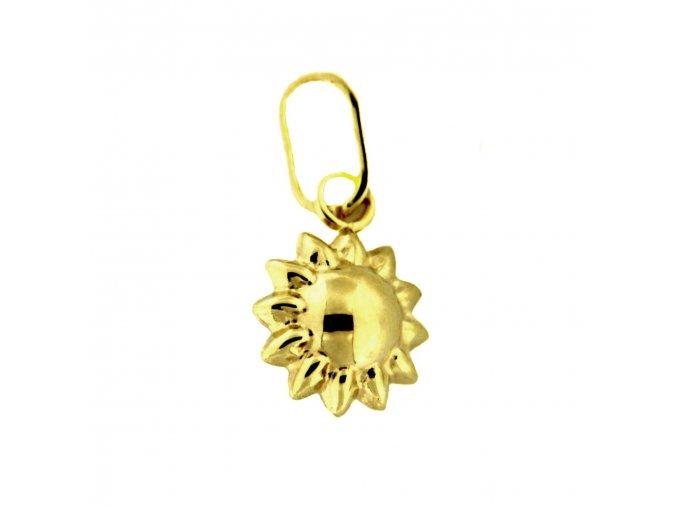 Zlatý dětský přívěsek - malé sluníčko