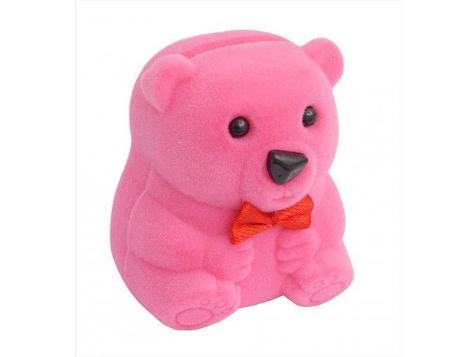 Dárková krabička - medvídek růžový