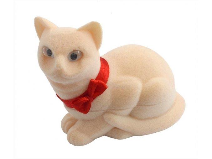 Dárková krabička - kočička béžová