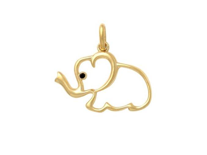 Zlatý dětský přívěsek - slon
