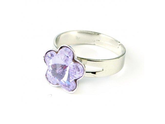 vyr 2748Detsky prstynek se Swarovski crystals Kyticka Violet u