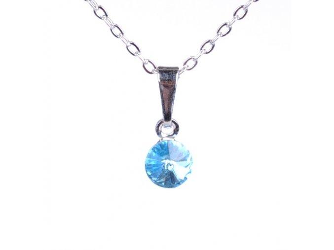 vyr 2293Detsky nahrdelnik se Swarovski crystals Rivoli 6 Aquamarine uu
