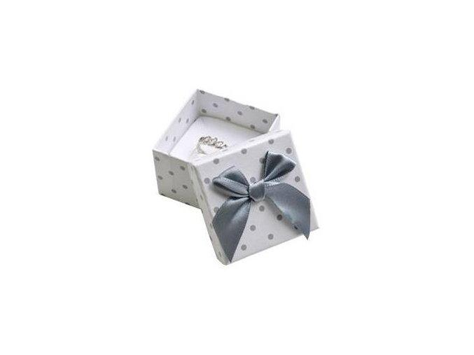 mala darkova krabicka na prsten bila sede puntiky 029154 pd u
