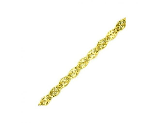 Řetízek ze žlutého zlata ozdobný