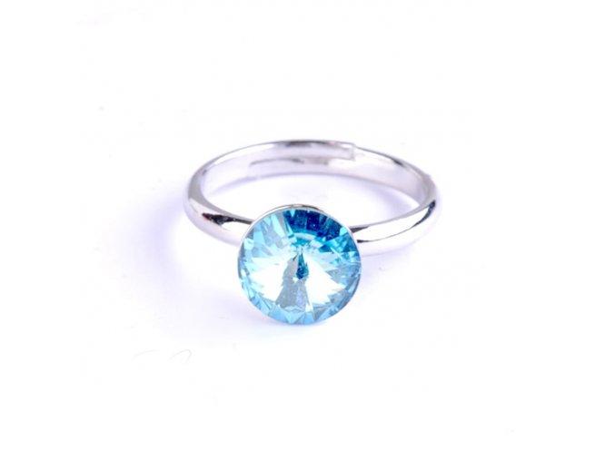 vyr 2308Detsky prstynek se Swarovski crystals Rivoli 8 Aquamarine u
