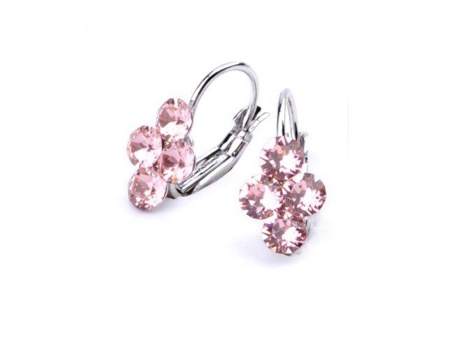 vyr 2974Detske nausnice se Swarovski crystals Lily Light Rose u2