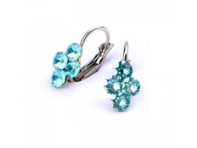 vyr 2973Detske nausnice se Swarovski crystals Lily Light Turquoise u2