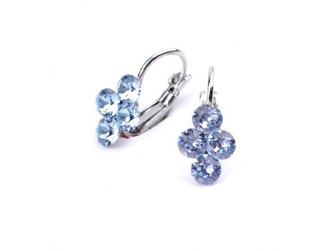 vyr 2972Detske nausnice se Swarovski crystals Lily Light Sapphire uu