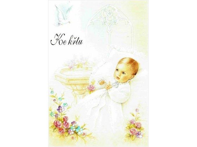 přání ke křtu ano 58 Kč uuu1