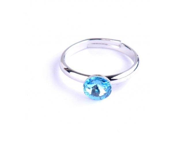 Dětský prsten Swarovski® crystals Rivoli - modrý 6 mm