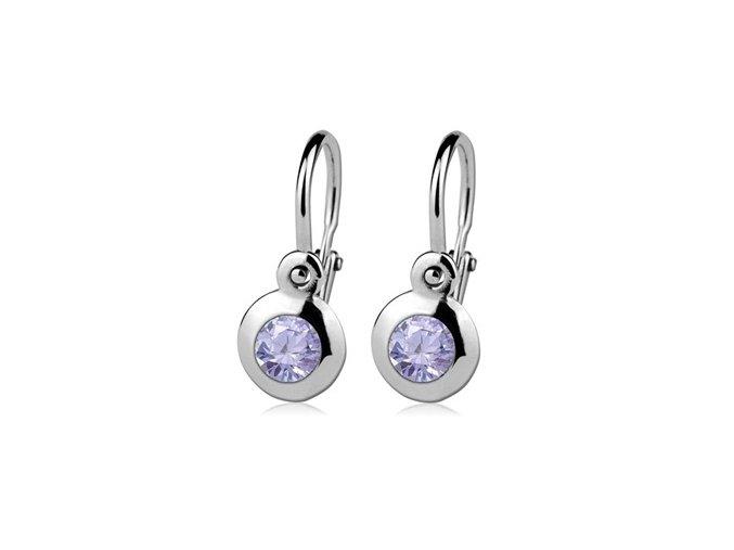 detske nausnice stribrne lavender 057492 pd 30