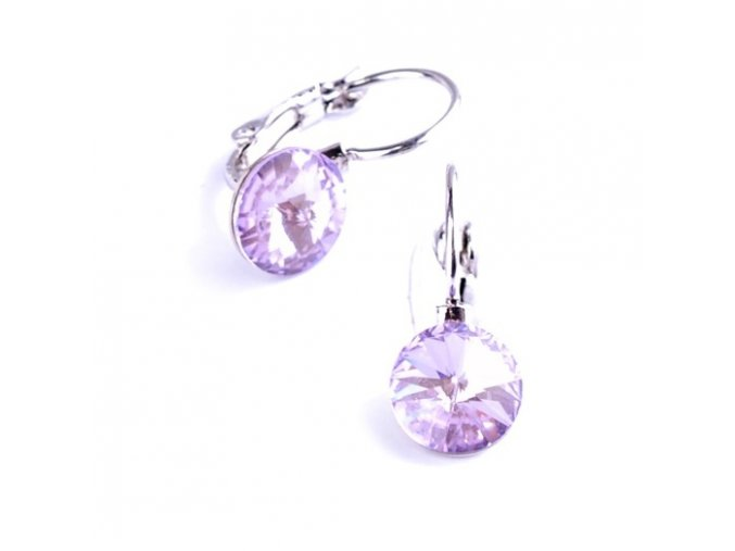 vyr 2266Detske nausnice se Swarovski crystals Rivoli 8 Violet u