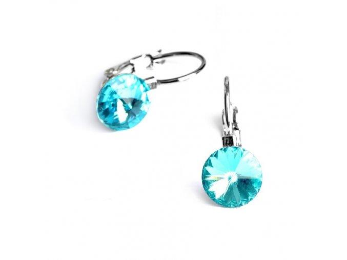 vyr 2271Detske nausnice se Swarovski crystals Rivoli 8 Light Turquoise