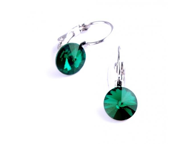 vyr 2267Detske nausnice se Swarovski crystals Rivoli 8 Emerald u