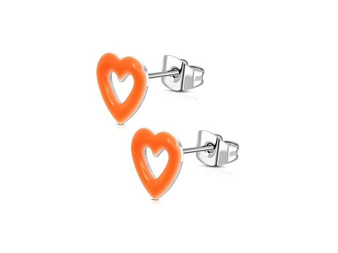 ocelove nausnice srdicka oranzova 057960 pd 20