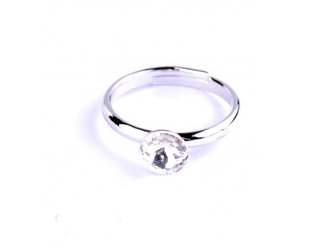 Dětský prsten Swarovski® crystals Rivoli - čirý 6 mm