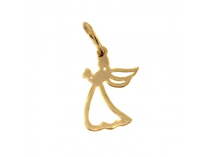 Zlatý přívěsek - andílek