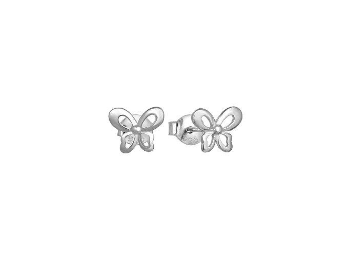 stribrne nausnice motylci 072703 pd x