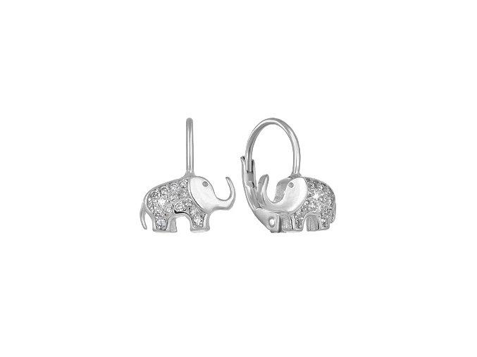 stribrne divci nausnice sloni 069167 pd x