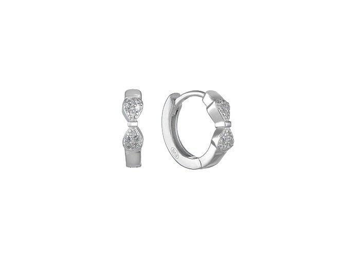 stribrne nausnice kruhy se zirkony 069964 pd x