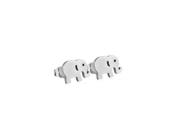 ocelove nausnice sloni 022370 pd