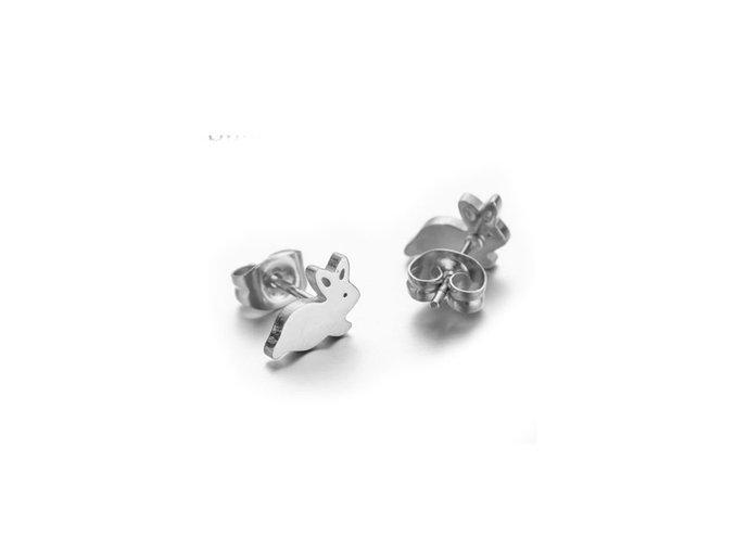 ocelove nausnice zajicci 074994 pd