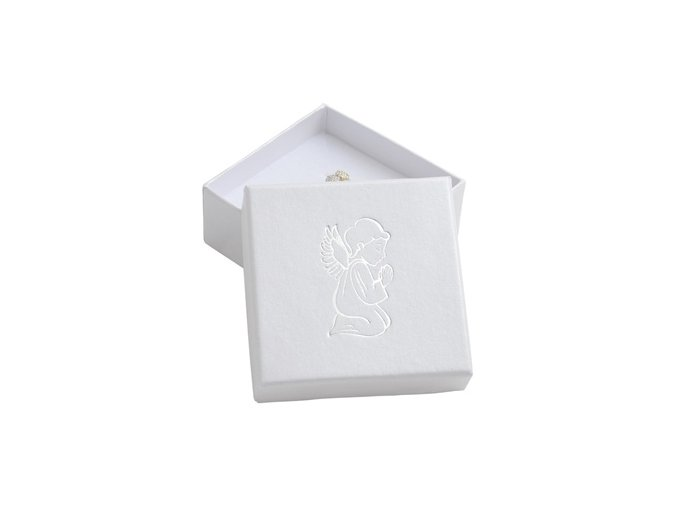 bila darkova krabicka stribrny andel 076415 pd 30