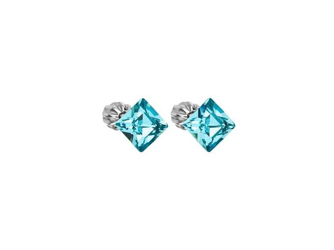 stribrne nausnice crystals from swarovskir light turquoise 061998 pd