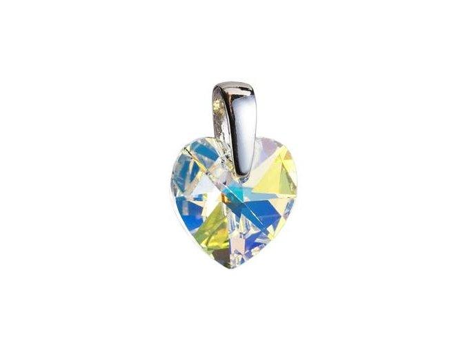 stribrny privesek srdce z dilny crystals from swarovskir crystal ab 017935 pd 50