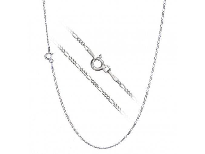 Stříbrný řetízek figaro  45 cm x 1,2 mm