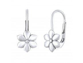 Dětské stříbrné náušnice - květinky 8x8 mm